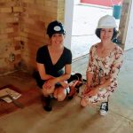 beautiful women in hard hats construction site upstells artmed